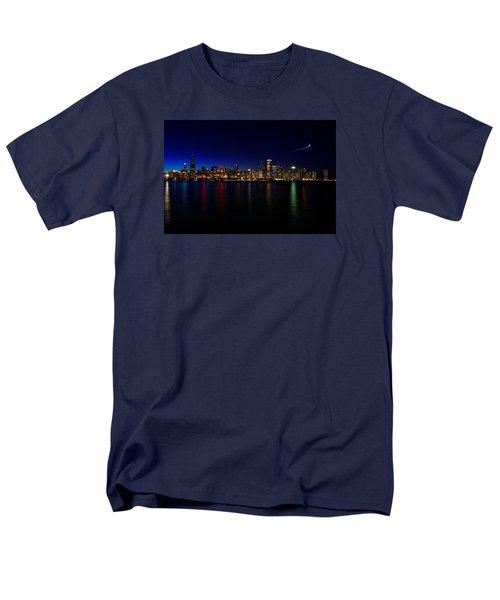Chicago-skyline 3 Men's T-Shirt  (Regular Fit) by Richard Zentner