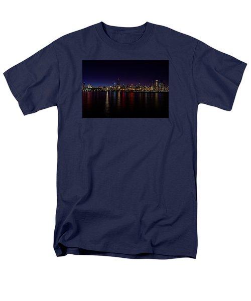 Chicago-skyline Men's T-Shirt  (Regular Fit) by Richard Zentner