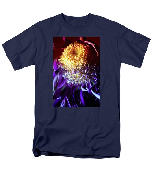 Dying Purple Chrysanthemum Flower Background Men's T-Shirt  (Regular Fit) by John Williams