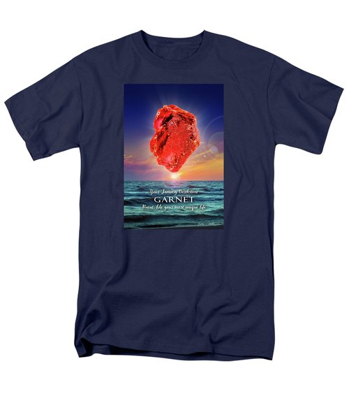 January Birthstone Garnet Men's T-Shirt  (Regular Fit)
