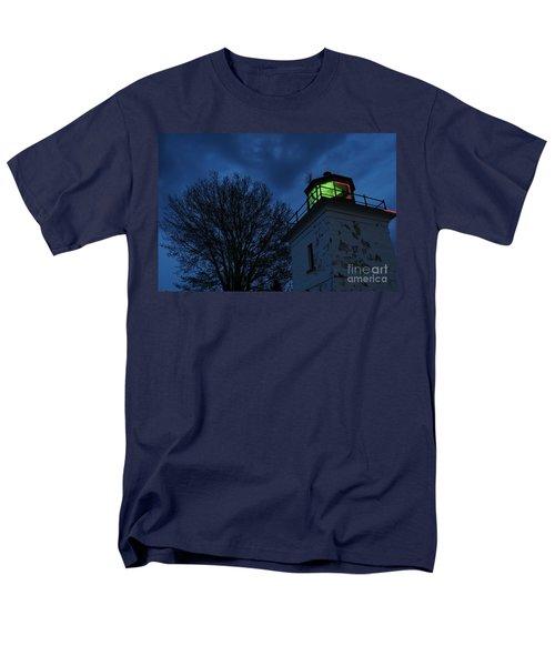 Lighthouse At Night Men's T-Shirt  (Regular Fit) by Joe  Ng