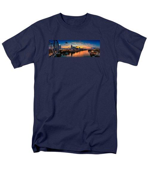 Nashville Skyline Panorama Men's T-Shirt  (Regular Fit) by Brett Engle