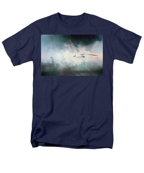 Seagull In Flight Men's T-Shirt  (Regular Fit) by Sennie Pierson