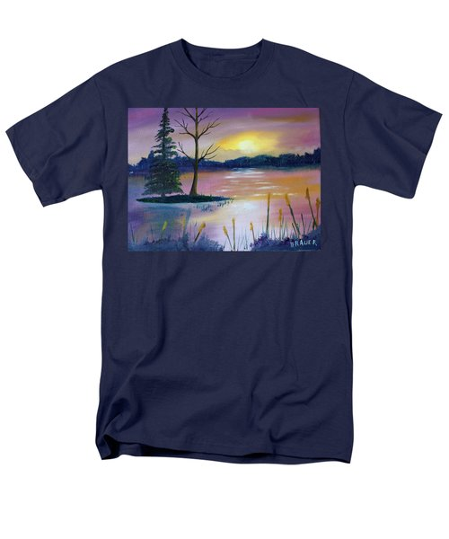 Men's T-Shirt  (Regular Fit) featuring the painting Stormy Sunset by Jack G Brauer