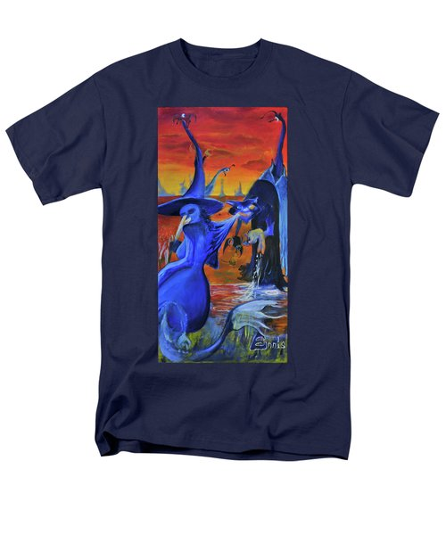 Men's T-Shirt  (Regular Fit) featuring the painting The Cat And The Witch by Christophe Ennis