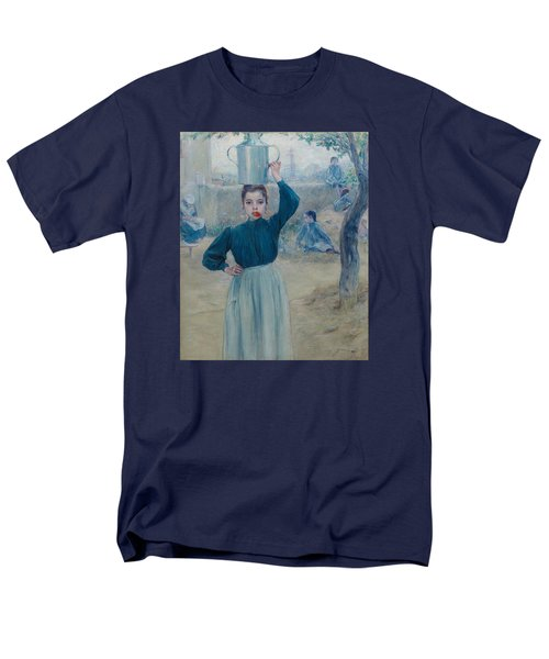 The Little Village Girl With Red Carnation Men's T-Shirt  (Regular Fit) by Adolfo Guiard