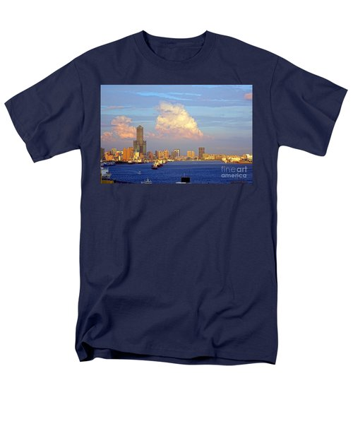 View Of Kaohsiung City At Sunset Time Men's T-Shirt  (Regular Fit)