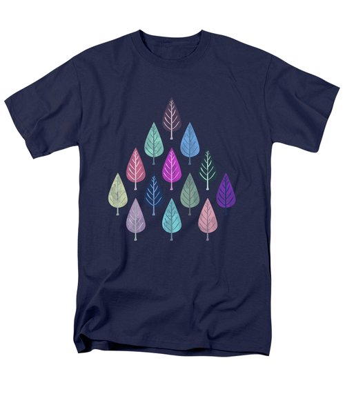 Watercolor Forest Pattern IIi Men's T-Shirt  (Regular Fit) by Amir Faysal