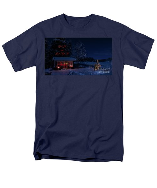 Men's T-Shirt  (Regular Fit) featuring the photograph Winter Night Greetings In Swedish by Torbjorn Swenelius