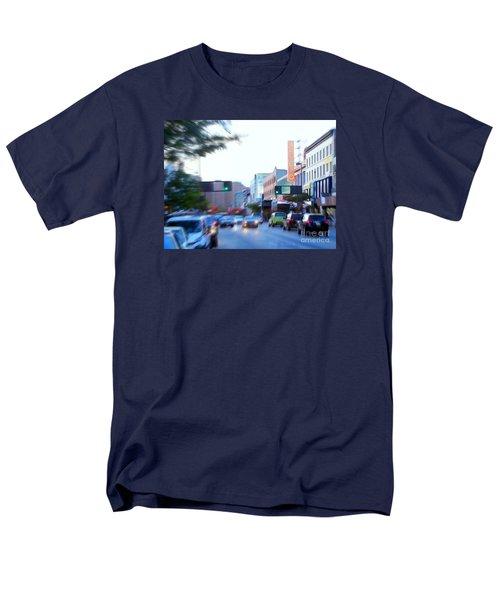 125th Street Harlem Nyc Men's T-Shirt  (Regular Fit) by Ed Weidman