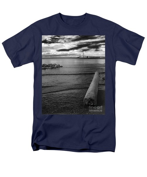 Mackinac Bridge - Infrared 01 Men's T-Shirt  (Regular Fit) by Larry Carr