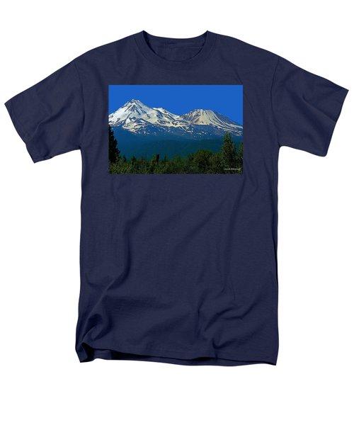 Mt. Shasta Men's T-Shirt  (Regular Fit) by Steve Warnstaff