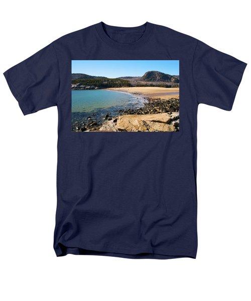Sand Beach Acadia National Park Men's T-Shirt  (Regular Fit)