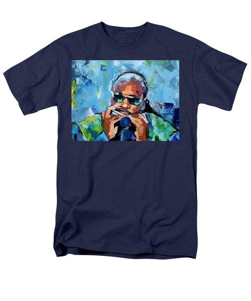Men's T-Shirt  (Regular Fit) featuring the painting Stevie Wonder by Richard Day