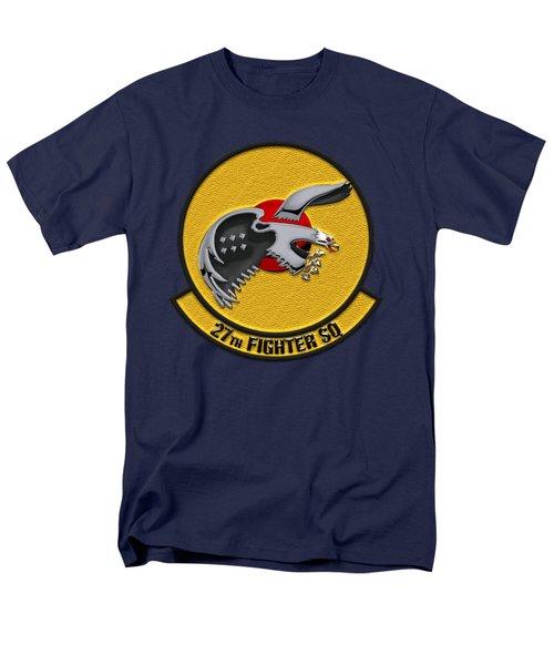 Men's T-Shirt  (Regular Fit) featuring the digital art 27th Fighter Squadron - 27 Fs Over Blue Velvet by Serge Averbukh