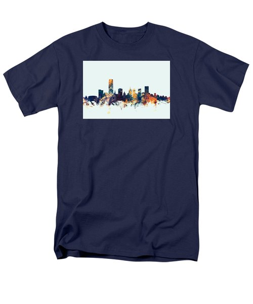 Oklahoma City Skyline Men's T-Shirt  (Regular Fit) by Michael Tompsett