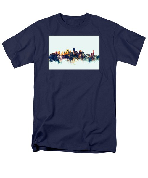 New Orleans Louisiana Skyline Men's T-Shirt  (Regular Fit) by Michael Tompsett