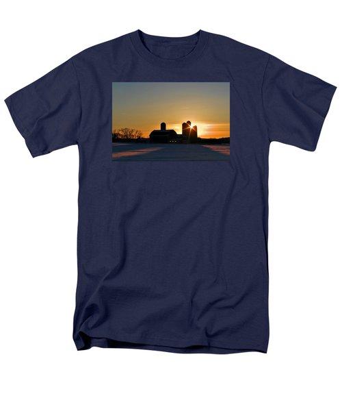 Men's T-Shirt  (Regular Fit) featuring the photograph 4 Silos by Judy  Johnson