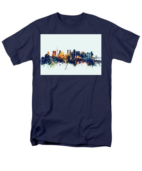 Tokyo Japan Skyline Men's T-Shirt  (Regular Fit) by Michael Tompsett