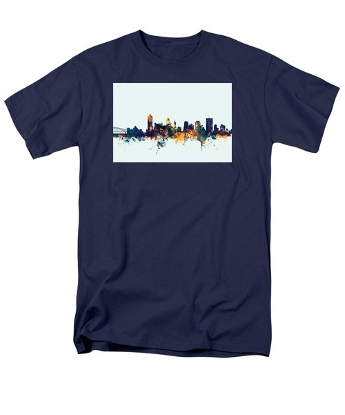 Memphis Tennessee Skyline Men's T-Shirt  (Regular Fit) by Michael Tompsett