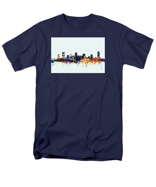 Nashville Tennessee Skyline Men's T-Shirt  (Regular Fit) by Michael Tompsett