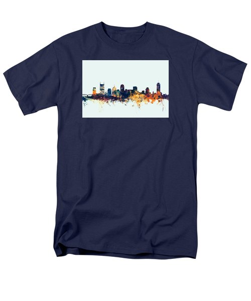 Nashville Tennessee Skyline Men's T-Shirt  (Regular Fit)