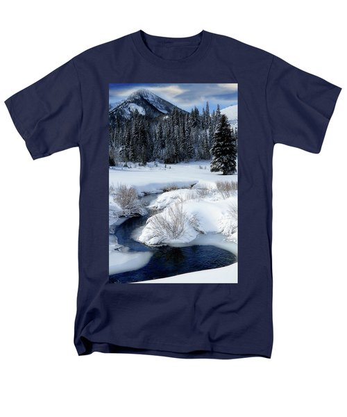 Wasatch Mountains In Winter Men's T-Shirt  (Regular Fit) by Utah Images