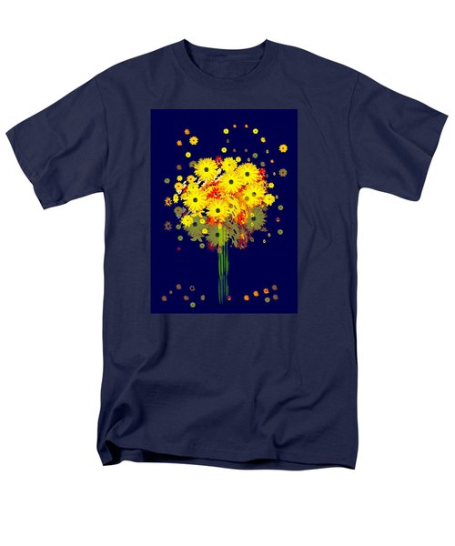 952 - Summer Flowers  Yellow ... Men's T-Shirt  (Regular Fit) by Irmgard Schoendorf Welch