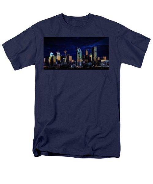 Men's T-Shirt  (Regular Fit) featuring the photograph A Calgary Sunrise by Brad Allen Fine Art