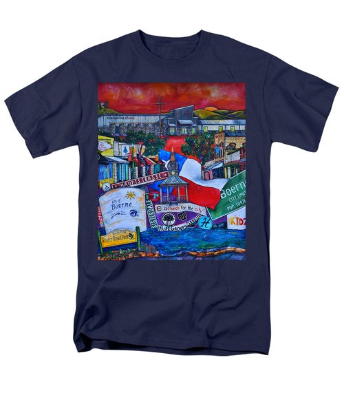 Men's T-Shirt  (Regular Fit) featuring the painting A Church For The City by Patti Schermerhorn