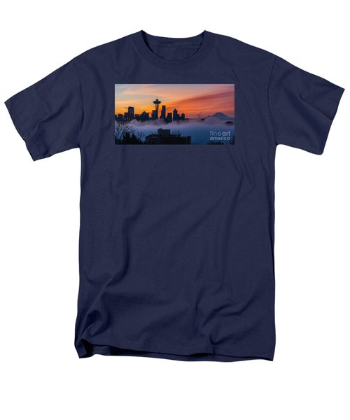 A City Emerges Men's T-Shirt  (Regular Fit) by Mike Reid