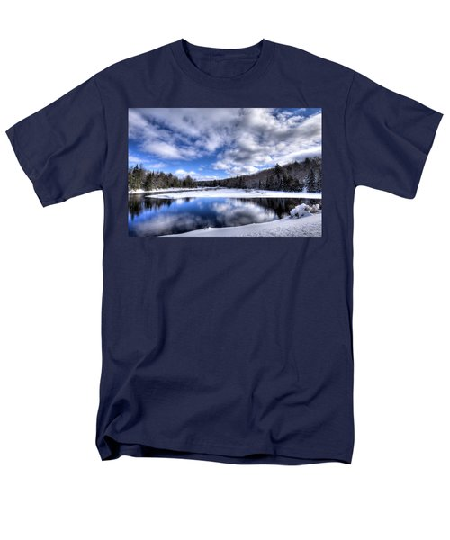 Men's T-Shirt  (Regular Fit) featuring the photograph A Moose River Snowscape by David Patterson