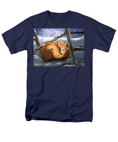 Men's T-Shirt  (Regular Fit) featuring the painting A Safe Place To Sleep by Carol Grimes