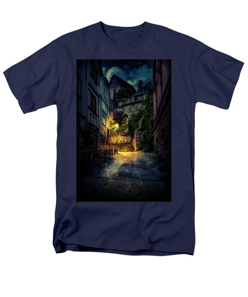 Men's T-Shirt  (Regular Fit) featuring the photograph A Wet Evening In Marburg by David Morefield