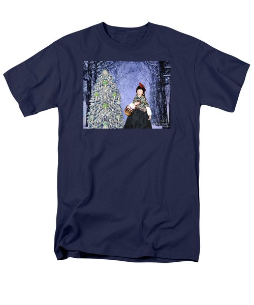 Men's T-Shirt  (Regular Fit) featuring the digital art A Winter Walk by Lyric Lucas