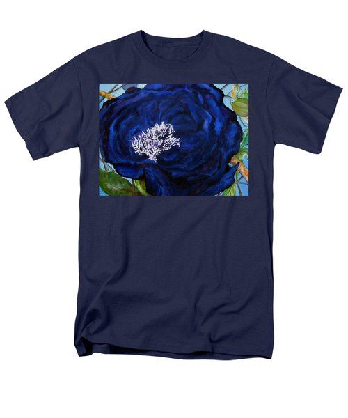 Abstract Blue Men's T-Shirt  (Regular Fit) by Lil Taylor
