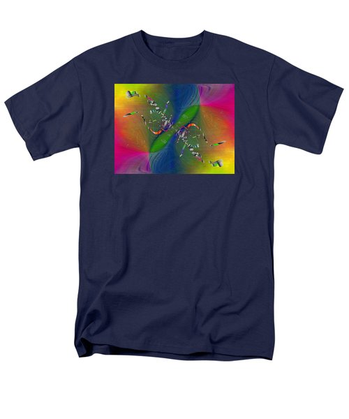Men's T-Shirt  (Regular Fit) featuring the digital art Abstract Cubed 356 by Tim Allen
