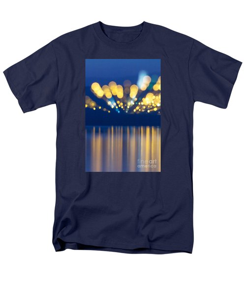Abstract Light Texture With Mirroring Effect Men's T-Shirt  (Regular Fit) by Odon Czintos