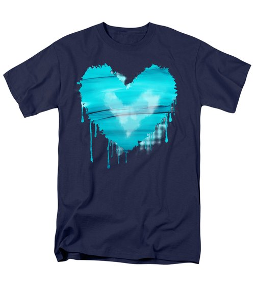 Men's T-Shirt  (Regular Fit) featuring the painting Adrift In A Sea Of Blues Abstract by Nikki Marie Smith
