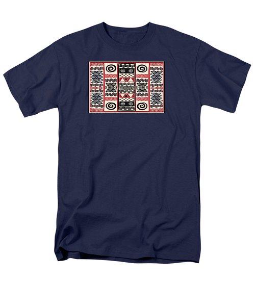 African Tribal Ritual Design Men's T-Shirt  (Regular Fit) by Vagabond Folk Art - Virginia Vivier