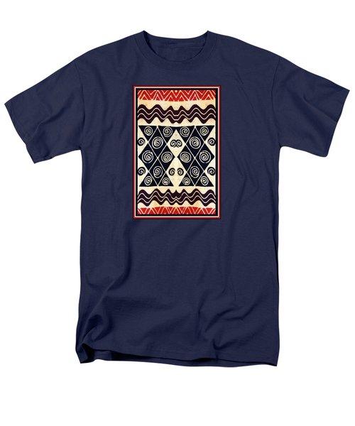 African Tribal Textile Design Men's T-Shirt  (Regular Fit) by Vagabond Folk Art - Virginia Vivier
