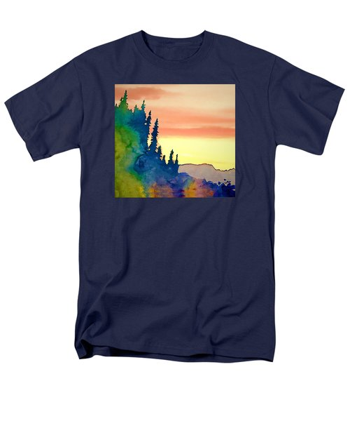 Alaskan Sunset Men's T-Shirt  (Regular Fit) by Jan Amiss Photography