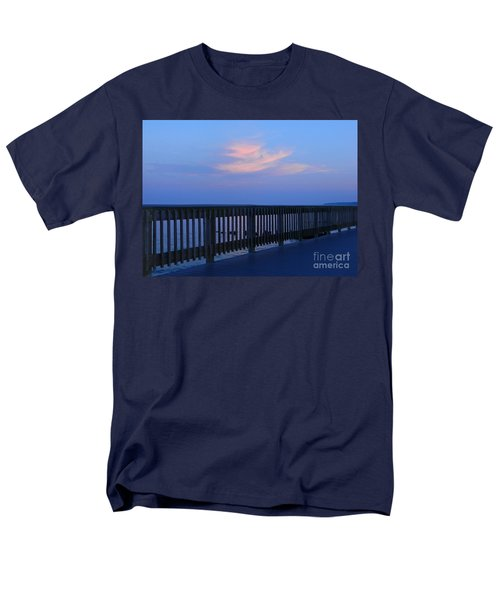 Men's T-Shirt  (Regular Fit) featuring the photograph Alls Quiet On The Beach Front by Emmy Marie Vickers