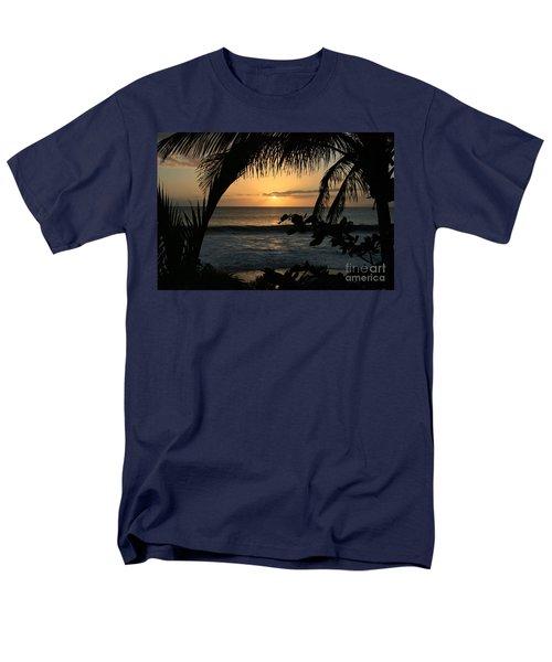 Aloha Aina The Beloved Land - Sunset Kamaole Beach Kihei Maui Hawaii Men's T-Shirt  (Regular Fit) by Sharon Mau