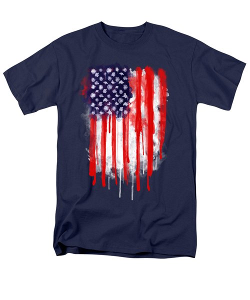 American Spatter Flag Men's T-Shirt  (Regular Fit)