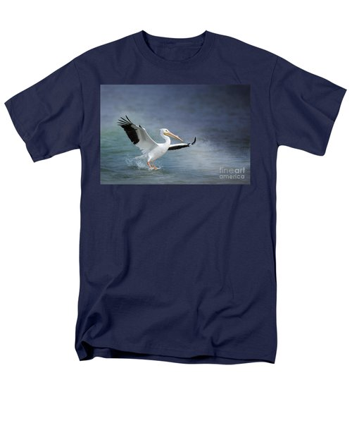American White Pelican  Men's T-Shirt  (Regular Fit) by Bonnie Barry