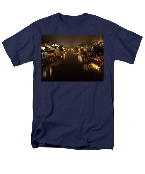 Ancient Chinese Water Town Men's T-Shirt  (Regular Fit) by Andrew Soundarajan