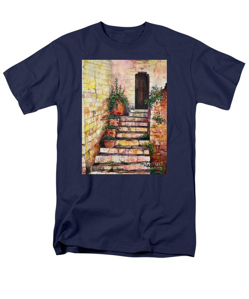 Ancient Stairway Men's T-Shirt  (Regular Fit) by Lou Ann Bagnall