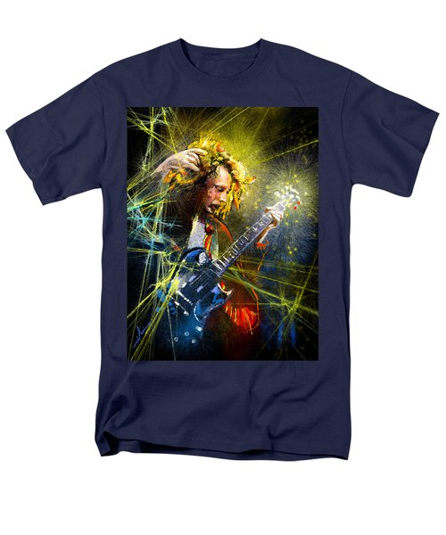 Angus Young Men's T-Shirt  (Regular Fit) by Miki De Goodaboom