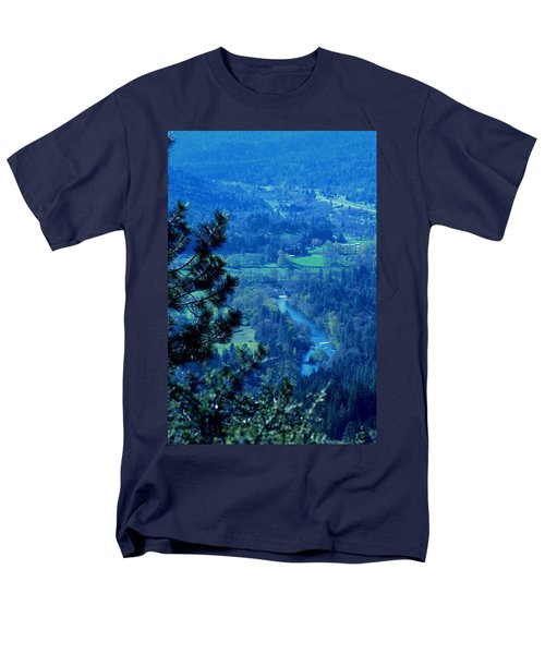 Men's T-Shirt  (Regular Fit) featuring the photograph Applegate River From On Top Of Bolt Mountain by Marie Neder